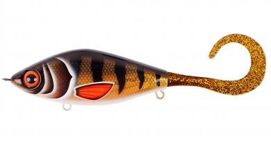 воблер /STRIKE PRO/ (джерк бейт тонущ.) 13,5см, 120гр, EG-208#TR-003 Guppie Golden Perch